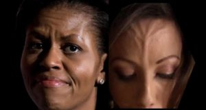 Michelle Obama's Eye Hologram & Anomalies + Reptilian Celebrities Busted!