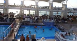 View of the Top Deck of Celebrity Solstice Cruise
